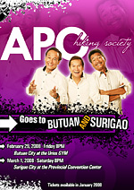 apo hiking society poster design by john mark libarnes