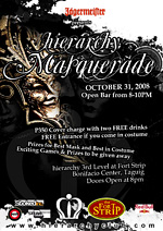 hierarchy masquerade party october 2010 poster design