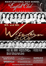 mainit national high school ms mr wisdom 2008 poster design